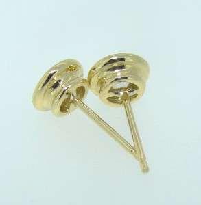 90 Ct Genuine Round Cut Diamond Stud Earrings 14k Yellow Gold Bezel
