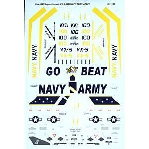 18 E Hornet: VX 9 Go Navy Beat Army (1/48 decals): Toys & Games
