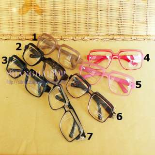 Big Clear Lens Glasses Large Frame Party Fancy Dress Cosplay Men Women