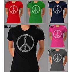 Los Angeles Pop Art Peace Symbol Womens T shirt