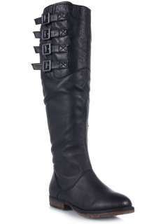 NEW STEVE MADDEN MIIDORI Women Buckle Knee High Leather Riding Boot sz