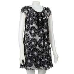 Mac & Jac Womens Floral Chiffon Dress
