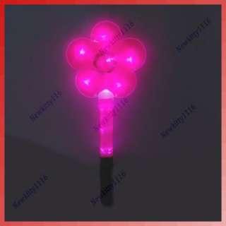 LED Flashing Flower Shape Glow Stick Wand Light Party P