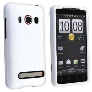 New White Rubber Hard Case Cover for HTC Evo 4G Cell