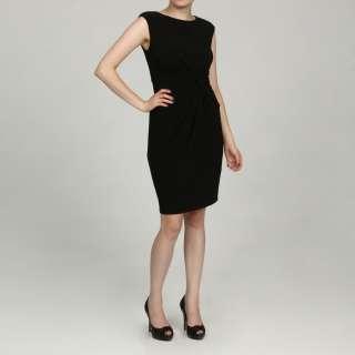 Jessica Howard Womens Petite Black Side Ruched Dress