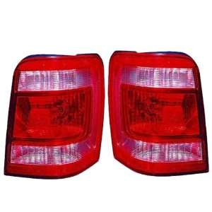 08 09 10 Ford Escape & Hybrid Taillight Taillamp Pair