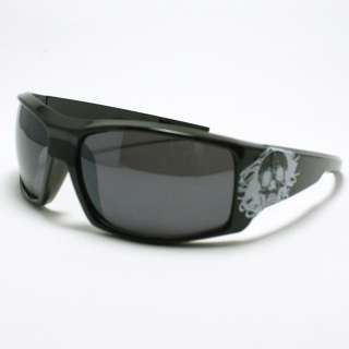 TATTOO Design Skull Sunglasses Biker Skater BLACK