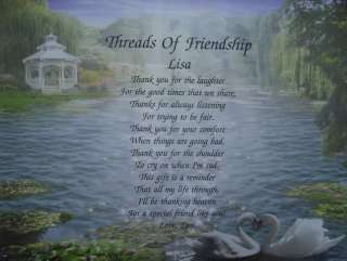 THREADS OF FRIENDSHIP PERSONALIZED POEM GIFT FOR FRIEND