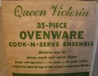 35 Piece Queen Victoria Ovenware Cook Serve Set GREAT DEAL