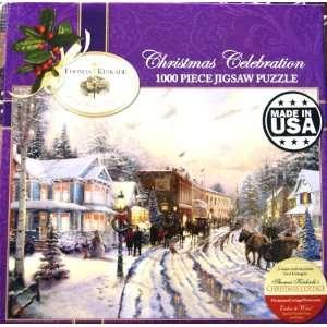 Thomas Kinkade Christmas Celebration 1000 Piece Jigsaw