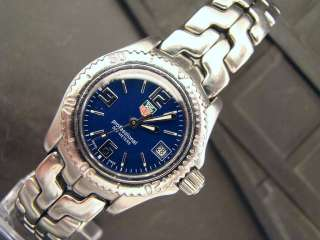 TAG Heuer Womens Link Stainless Steel Watch. Stunning Blue Dial