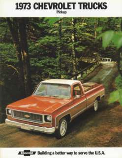CHEVROLET 1973 Truck Sales Brochure 73 Chevy Pick Up