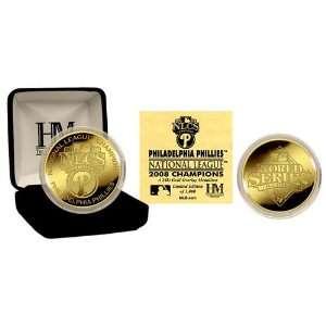 Philadelphia Phillies 08 National League Champions 24KT Gold Coin