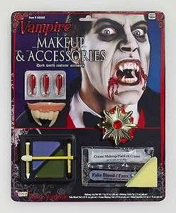 Vampire Makeup Kit Fake Blood Fangs Teeth Costume Halloween