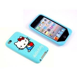 Case Hello Kitty Black Silicone Full Cover Case for iPod Touch iTouch