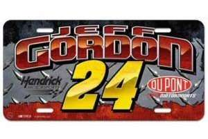 Jeff Gordon License Plate Tag Nascar Racing CLEARANCE