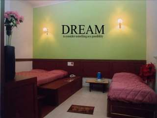 DREAM POSSIBILITY Home Bedroom Decor Wall Decal 36