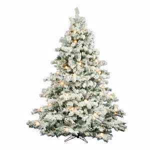 Flocked Alaskan 90 Artificial Christmas Tree with Clear