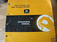 John Deere 740G 748G Skidder Operators Manual #1