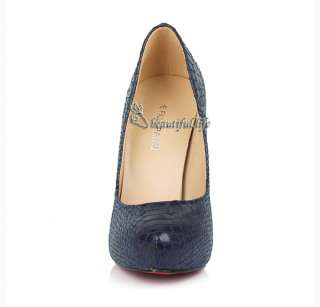 Womens Shoes Platform High Heel Pump OL Dress Dark Blue