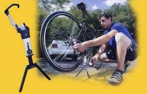 FLASHSTAND folding BIKE repair stand f MTB & ROAD bicycles w carry bag