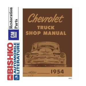 1954 CHEVROLET PICKUP TRUCK Shop Service Manual CD