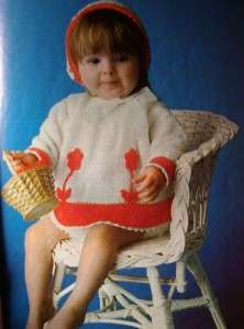 Christening Gown Crochet Pattern Knit Bonnets Patons Baby Knitting