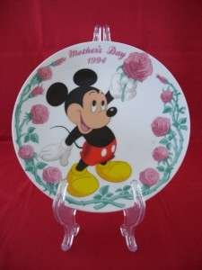 WALT DISNEY MOTHERS DAY 1994 MICKEY MOUSE ROSE PLATE