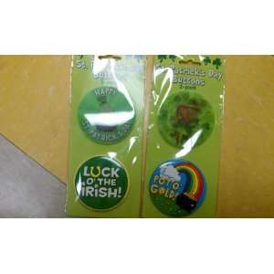 St. Patricks Day Buttons (Designs Vary)