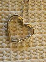 BEN BRIDGE JOURNEY DIAMOND HEART PENDANT 14K