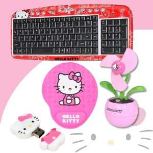 Hello Kitty USB Keyboard with Hot Keys #90309 RED (Red) + Hello Kitty