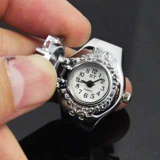 Diamond Jewellery Finger Ring Quartz Watch Women Fahion white
