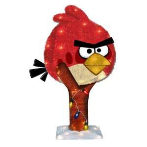 Kurt Adler 35 Light 18 Inch Angry Bird Tinsel Lighted Lawn