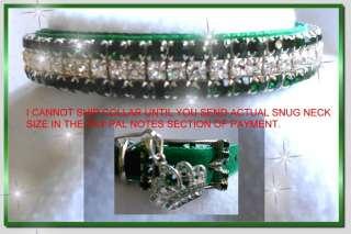 & DIAMONDS VELVET~ Sz 3XL Crystal Rhinestone Dog Collar #482