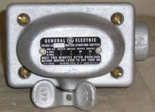 GE Motor Starting Switch 115/230V AC/DC CR1061 H 2A2