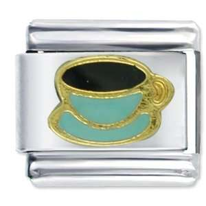 Coffee Cup Aqua Food Italian Charm Pugster Jewelry