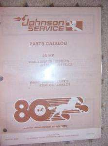 1980 Johnson Outboard Parts Catalog 25 35 HP J25TECS E