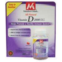 Members Mark Natural Vitamin D3 2000 IU   400ct (2 reviews) product