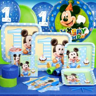 Mickeys Mickey Mouse 1st Birthday Party Pack 16 Guests