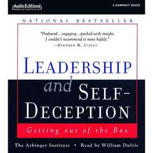 leadership and self deception Read this essay on leadership and self deception come browse our large digital warehouse of free sample essays get the knowledge you need in order to pass your classes and more.