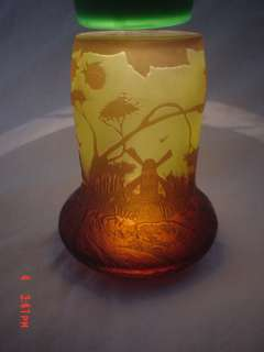 Arsall Glass Vase Lamp Cameo Perfume Lamp Beautiful!!