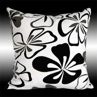 NEW BLACK FLORAL THROW PILLOW CASES CUSHION COVERS 17