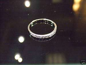 Diamond Wedding Band, 14k White Gold Ring SIZE 5.50