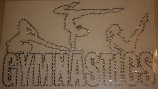 Rhinestone Iron On Transfers GYMNASTICS Bling Dance