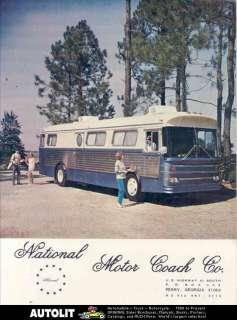 1970 GMC Madsen National Bus Motorhome RV Brochure
