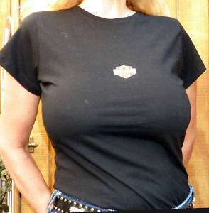 HARLEY DAVIDSON Womens BLACK T Shirt Short Sleeve SMALL
