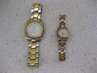 VINTAGE HIS & HERS WATCH SET VELLACCIO MENS LADIES