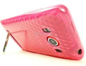 FOR HTC EVO 4G SPRINT PINK TPU SOFT COVER SKIN CASE