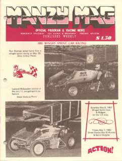 82 Manzanita Speedway Sprint Car & Midget Program