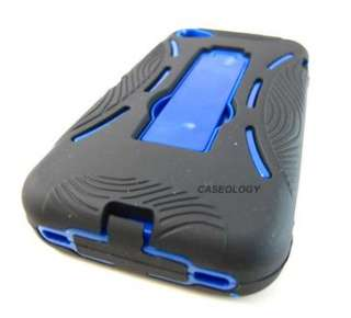 BLK BLUE IMPACT HARD SHELL SOFT CASE COVER APPLE IPHONE 4 4S PHONE
